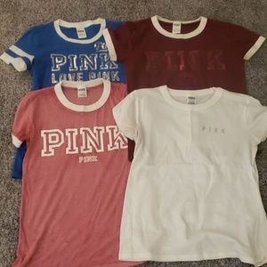 Lot of 4 VS Pink shirts